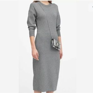 💕 Banana Republic Gray Sweater Dress XXS petite